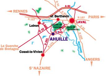 Plan localisation ahuille